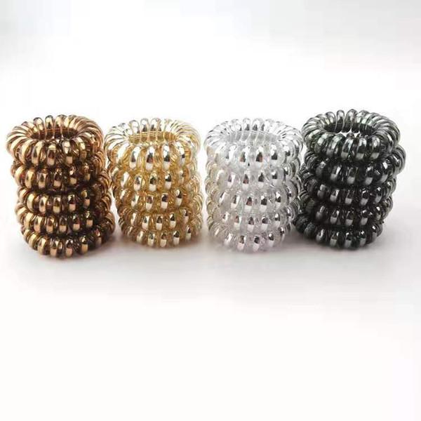 aproximadamente 3,7 centímetros New Designer Acessórios Telefone Fio Headband Cord para Jóias Bandas Mulheres Meninas Elastic borracha do cabelo laços de cabelo