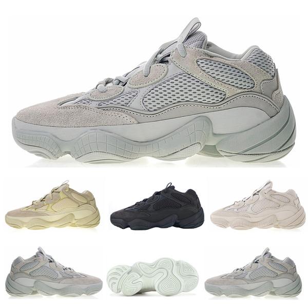 2019 Desert 500 Utility Noir Chaussures De Course Hommes 500S Sel Super Moon Jaune Meilleure Qualité Designer Femmes de haute qualité Chaussures Sneakers
