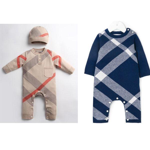 Зимняя одежда новорожденного мальчика девочка трикотажный свитер комбинезон с капюшоном малыша верхняя одежда и шляпа теплый младенец детские комбинезоны