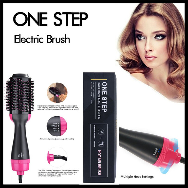 best selling One Step Electric Hair Brush 4in1 Hair Curler Dryer Beauty Styler Multi Heat Setting Straightening Curly Comb Women and Men