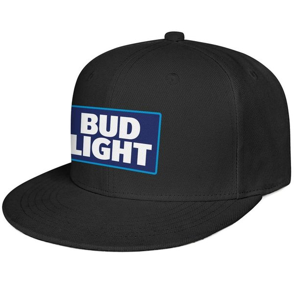 Womens Mens Flat-along Adjustable BUD LIGHT LOGO Rock Punk Cotton Tennis Cap Golf Bucket Hats Military Caps Airy Mesh Dad Hats For Men Women