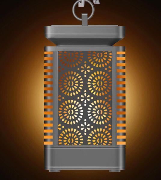 Lâmpada de Chama Solar 96 LED Pendurado Lanterna Luzes Do Jardim Solar À Prova D 'Água Luz Solar Ao Ar Livre para o Jardim Caminho Decoração Lâmpada