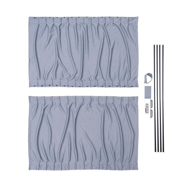 1pc 70cm Long Universal Retractable Car Vehicle Curtains Window Roller Sun Shades Blind Protectors(Grey)