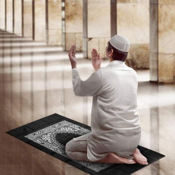 Elegante portátil musulmanes Oración Oración Islámica Manta Manta contravel Brújula