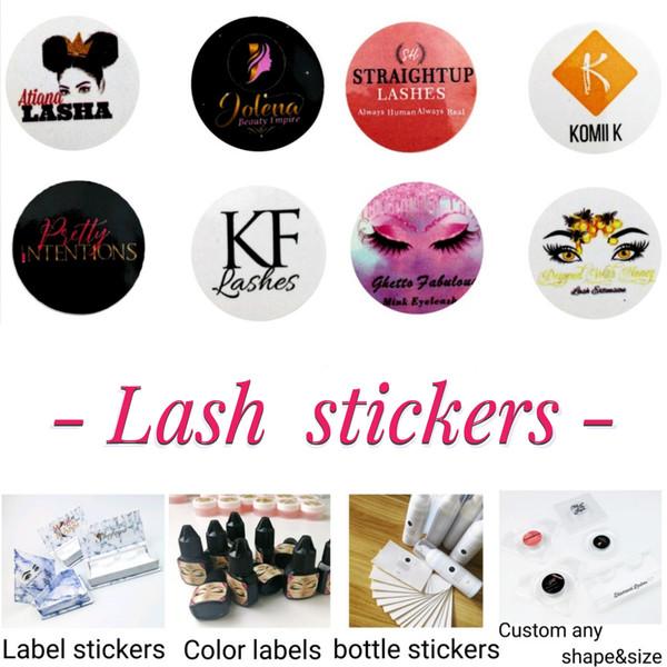 Disegna il vostro logo e personalizzato per Sticker Private Label (Utilizzato per Pretty Lashes 3D naturali e 25 mm visone ciglia False Lashes Drop Shipping