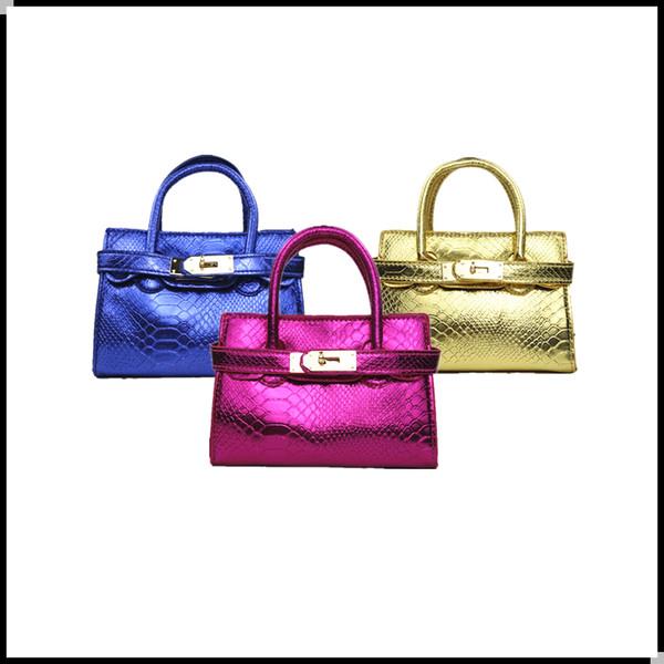 2019New Candy Color Kids Tote Bag Stylish Child Handbag Designer Kid Girl Purses Shoulder bags Fashion Children Handbags Mini Baby BAG CM206