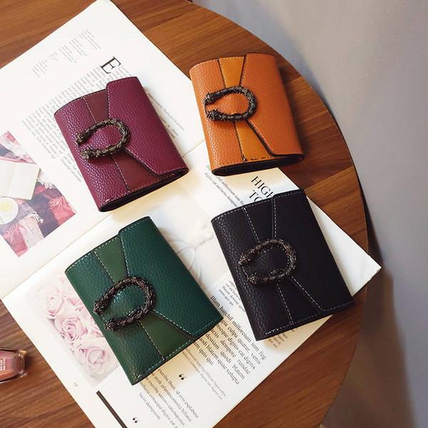 Bolsas de Designer de luxo Curto Zíper Plain Envelope Sacos De Couro Mini Mulheres Carteiras Titular Do Cartão Da Foto Da Forma Oferta Especial