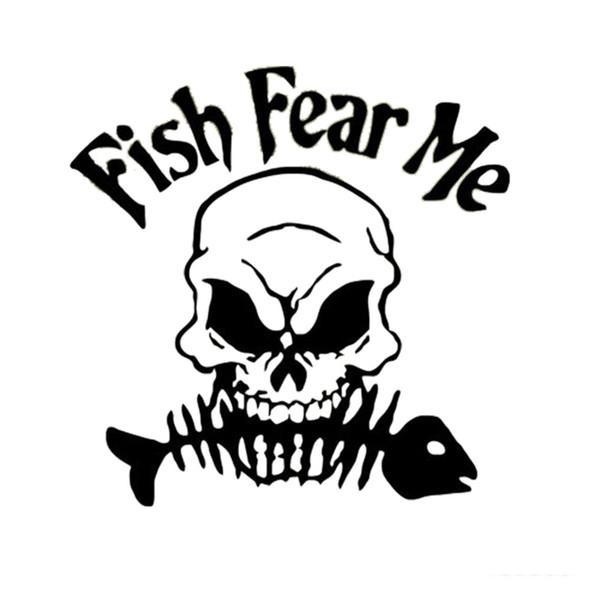 Funny Fish Afraid Of My Death, Car Sticker, Truck Window, Vinyl Car Sticker, Decorative Decals Accessories