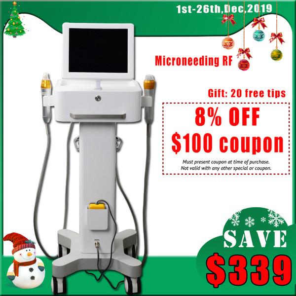 Microneedle fractionnel RF machine aiguille Scar Removal Micro traitement de l'acné vergetures enlèvement rf Rajeunissement de la peau DHL Livraison