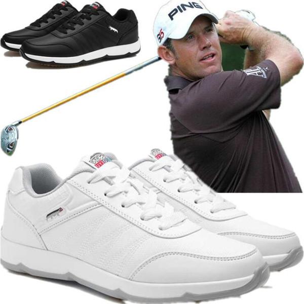 Sapatos de golfe não-deslizamento sapatos de GOLF dos homens tendão inferior leve-resistente ao desgaste respirável esportes ao ar livre