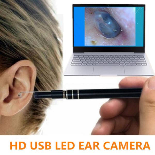 2in1 USB Earpick Mini Kamera Endoskop Nase Ohr Reinigungswerkzeug HD Visuelle Ohr Löffel Smart Swab Easy Ohrenschmalz Entfernung Weiche Spirale Ohrreiniger