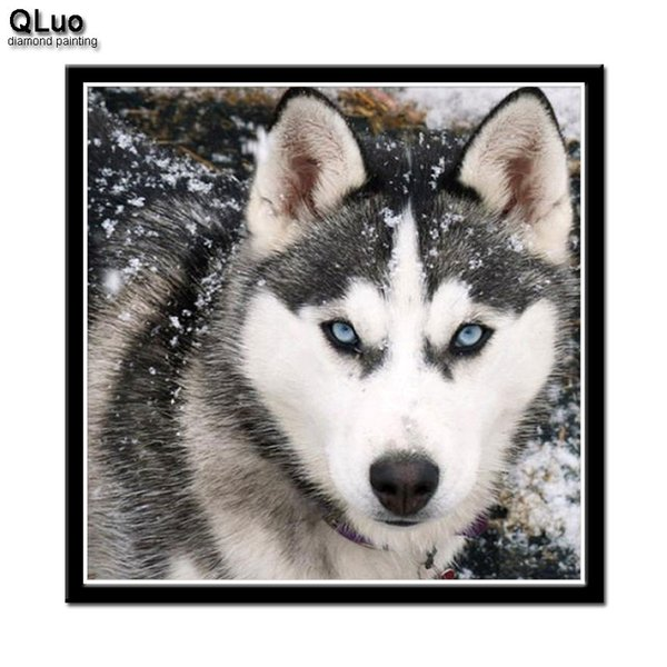 Оптовая Рождество 5D DIY Алмаз живопись новые поступления полный Rond дрель мультфильм Снежный волк мозаика Алмаз Вышивка Крестом