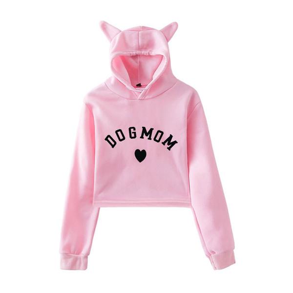 Bts Crop Top Hoodies Hoodie Dog Mom Hoodies Women Kawaii Sweatshirt Femmes Printing Cropped and Sweatshirts Pullover Top
