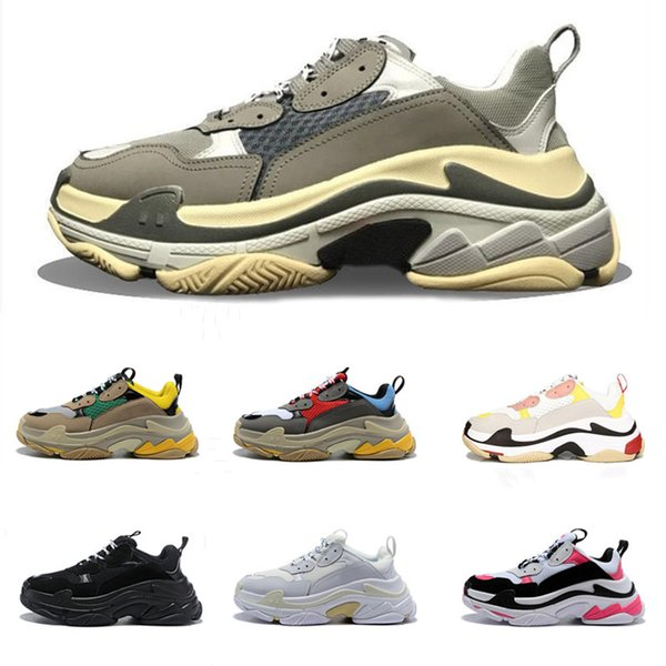 Diseñador Paris 17FW Triple-S 2018 Triple S Sneaker Desi Luxury Dad Shoes para hombre Mujer Vintage Old Grandpa Trainer Sports Running Shoes