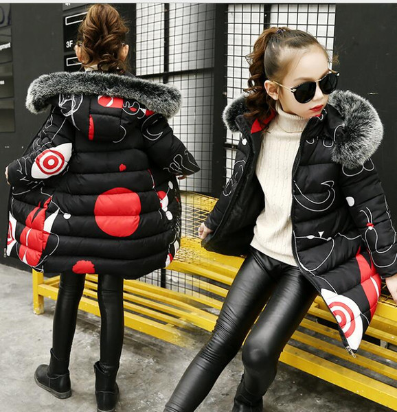 top popular Teenage Girls 2019 New Black Red Thick Coat Winter clothes Wear Costume For Size 6 7 8 9 10 11 12 13 14 Years Child Down Jackets 2021