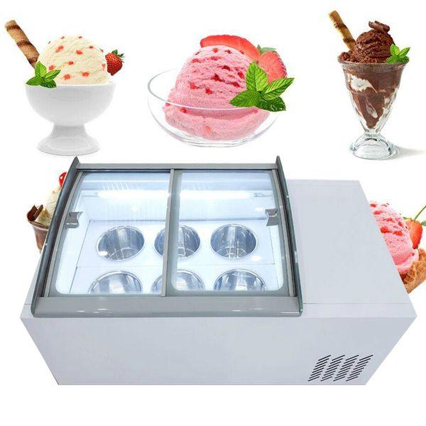 top popular 190W Desktop ice porridge cabinet commercial ice cream display cabinet for cold drinks shop store supermarket ice cream display cabinet 2020