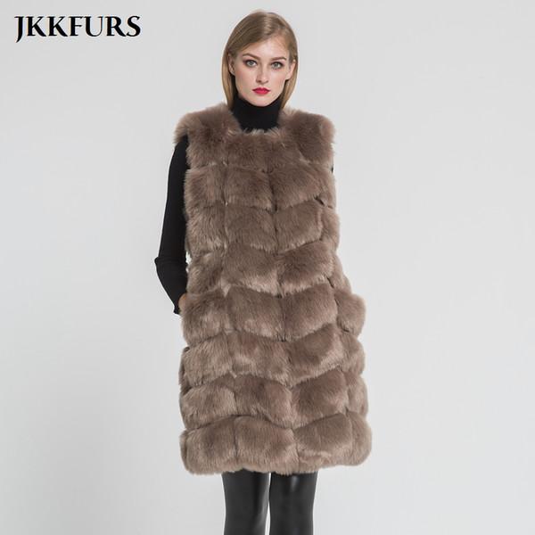 2018 New Arrivals Women's Faux Fur Vest Furry Fake Fur Winter Warm Luxury Outerwear Autumn Fashion Long Style Gilet S8405
