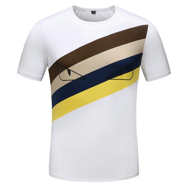 19ss 2019 New Mens Designer T-shirts Col Rond Abeille Lettre Tête de Tête Imprimer Designer Shirt Slim Haute Qualité De Luxe T-shirt Plus La Taille M-3XL