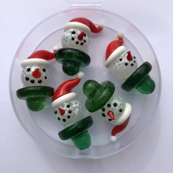 Le plus récent verre Santa Claus UFO Carb Cap solide en verre de couleur Carb Caps pour thermale Quartz banger ongles pipe à eau bongs en stock