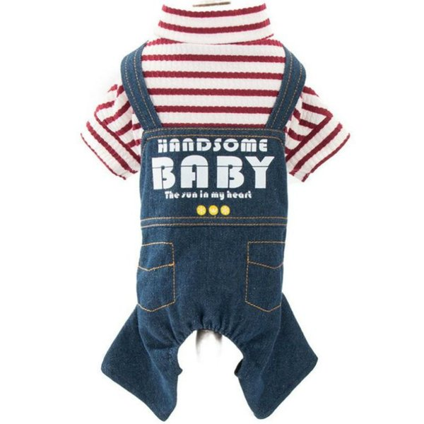 New Denim Dog Overalls Pet Dog Jeans Clothes Pants Chihuahua Yorkshire Terrier Small Dog Clothes Jumpsuit Rompers Set Drop shipping
