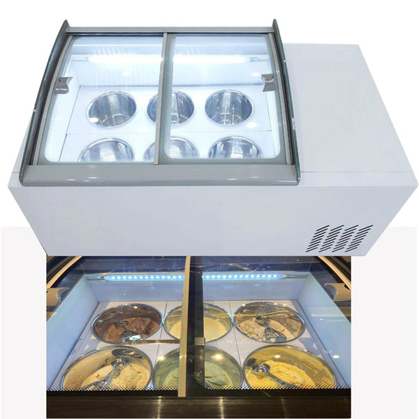 top popular 110V 220V New ice cream display cabinet commercial freezer for cold drinks shop store supermarket ice cream display cabinet 2020