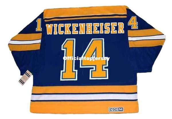 Custom Mens DOUG WICKENHEISER St. Louis Blues 1983 CCM Vintage Barato Retro Hockey Jersey