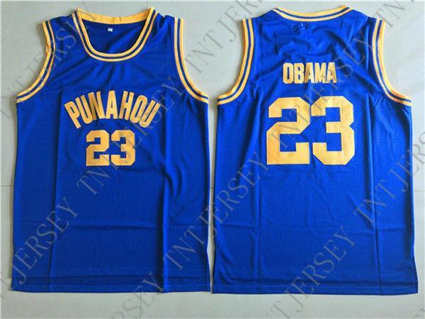 Cheap custom Obama 23# Punahou High School Basketball Jerseys Stitched Customize any name number MEN WOMEN YOUTH JERSEY XS-5XL