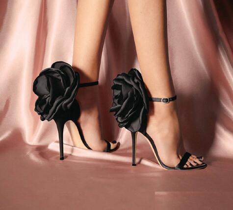 Yaz Büyük Kelebek-düğüm Kadın Sandalet Stiletto Yüksek Topuk Ayakkabı Ayak Bileği Kayışı OL Seksi Pompa Parti Düğün Ayakkabı Boyutu 35-40