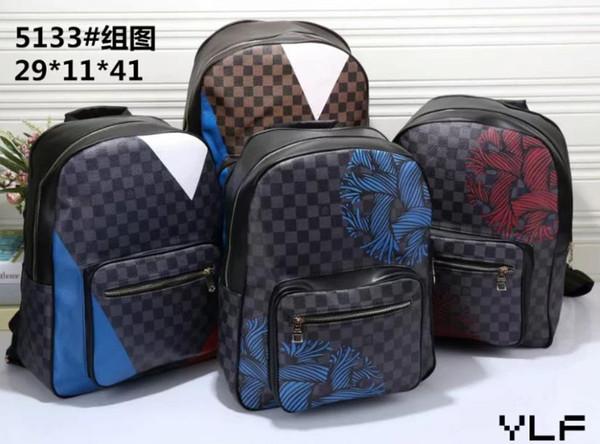Alta qualidade PU Europa saco homens designers de bolsas mochila escolar Mochila Estilo mochilas femininas marcas frete grátis 7863