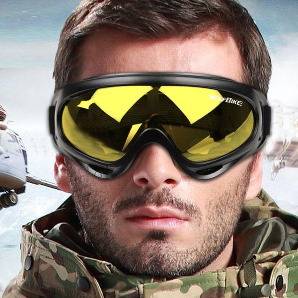 Inverno Neve cycing Sport Sci Snowboard Motoslitta Occhiali anti-fog Occhiali antipolvere antivento Anti-UV Skate riding