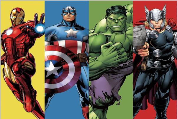 7x5FT Super Hero Iron Man Capitan America Hulk Thor Avengers Cornice Personalizzata Photo Studio Sfondo Fondale in vinile 220cm x 150cm