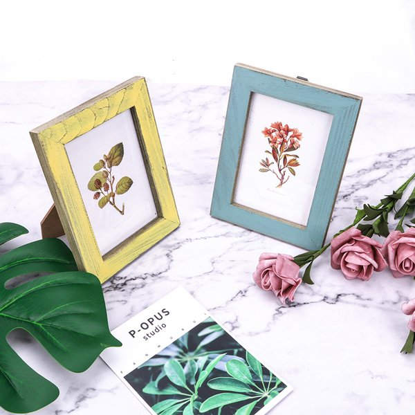 Wooden Wedding Couple Pictures Frames Creative 5 Colors Vintage Photo Frame Home Decor Gift