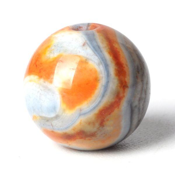 Orange Agate  Stone Crystal Round Loose Bead 6/8/10mm Gemstone for Muslim Prayer Rosary Bracelet Accessories Jewelry Making