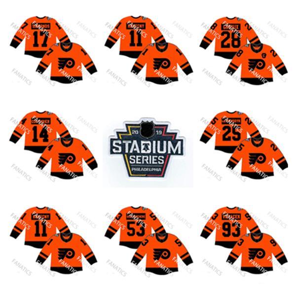 Philadelphia Flyers 28 Moletom Claude Giroux 93 Jakub Voracek Pulôveres 25 Camisola James Van Riemsdyk 17 Wayne Simmonds 14 Sean Couturier