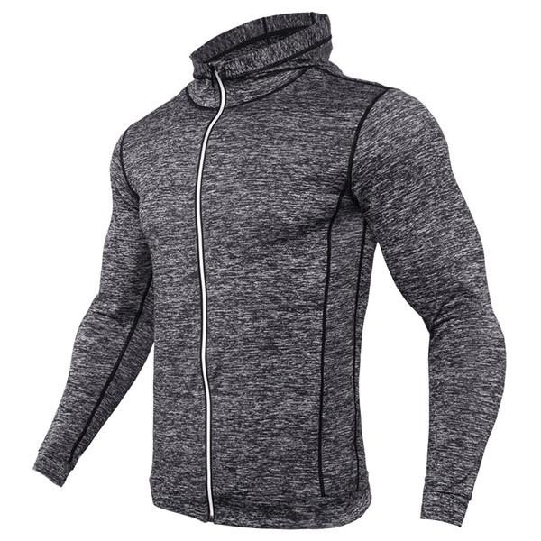 En Kaliteli Erkek T Shirt Moda 2017 Tişörtü Erkekler Spor TShirt Sıkıştırma Gömlek Fermuar Yansıtıcı Nefes Jersey MMA