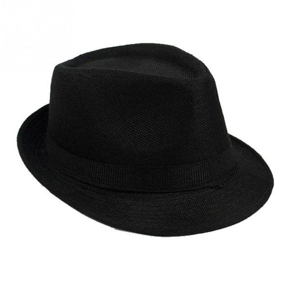 Fashion Wide Brim Panama Fedora Hats for Women Men Jazz Caps Unisex Top Beach Visor Hat Straw Cap
