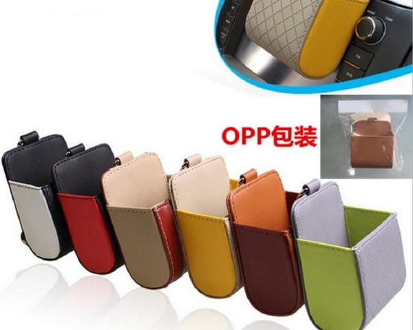 Couro Car Pendant saída Decoração Estiva Tidying carro Key Case Bag moeda copo Wallet Titular bolso Glasse caneta Telefone Organizer