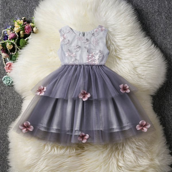 Hot Sales Lace Dresses For Girls In Summer Floral Gauze Sleeveless Pompous Skirt Ball Gown Dresses Ra114561 Flower Girl Dresses For Toddlers Flower