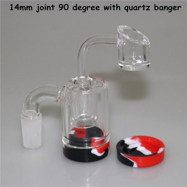 14-14mm 90 graus com banger de quartzo