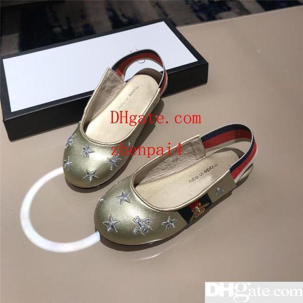Designer Mädchen Sommer Schuhe Lovley Prinzessin Gold Sandalen Echtes Leder Sandalen Emboidery Hochzeit Schuhe Weiche Casual Sommer Tragen