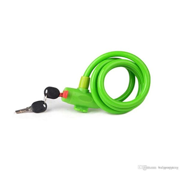 Haute qualité vélo Key Lock haute sécurité annelé Cable Lock Meilleur acier inoxydable vélo vélo Six couleurs libre choix Envoi gratuit hxl