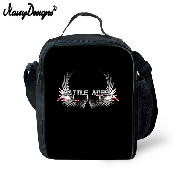 Noisydesigns 2019 Lunch Alita Battle Angel Logo Portable Insulated Picnic Women Kids Men Cooler Box Tote bag for Boys Hot