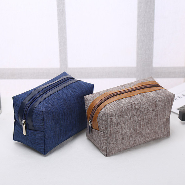 best selling Fashion portable cosmetic bag Simple square bags Commute Storage Customized logo Zipper handbag Home Furnishing fashion