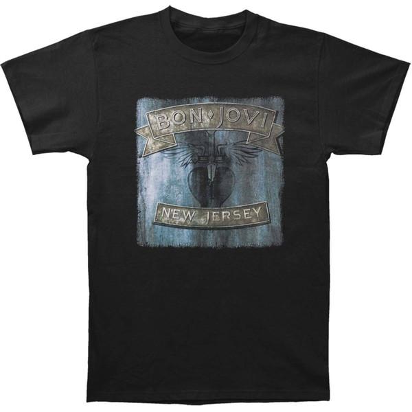Bon Jovi мужская Нью-Джерси футболка XXXX-большой черный взрослый футболка хлопок мода майка топ тис китайский стиль