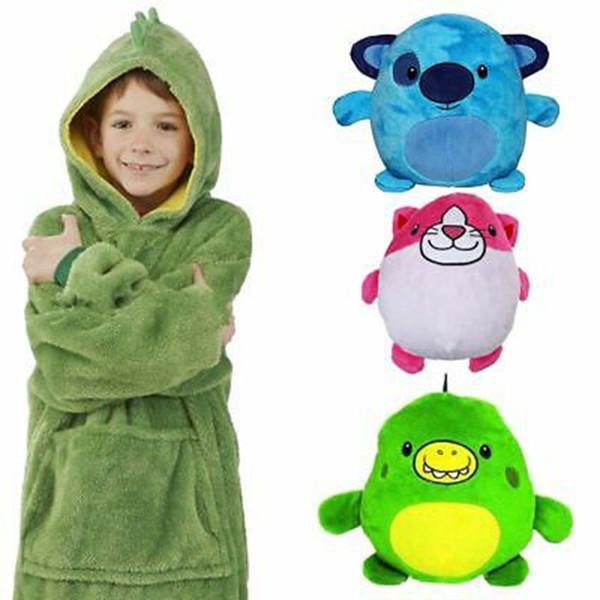 Dinossauro moletom com capuz inverno quente com capuz Coats Banho Fleece Pullover para as crianças para Christmas Gift ZZA1475-1