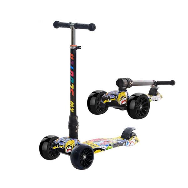 Съемный велосипед скутер весело упражнения игрушки скутер дети удар скутер действие Спорт подарок для детей черный