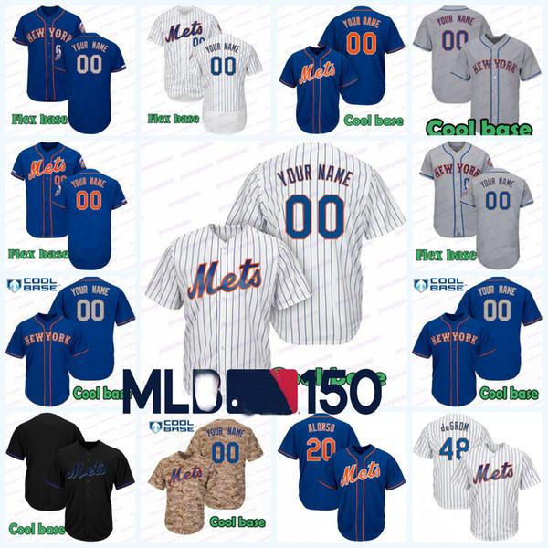 20 Pete Alonso 48 Jacob deGrom n ° 18 Darryl Strawberry Baseball Maillots Mets 16 Gooden 34 Noah Hernandez 17 52 Cespédès