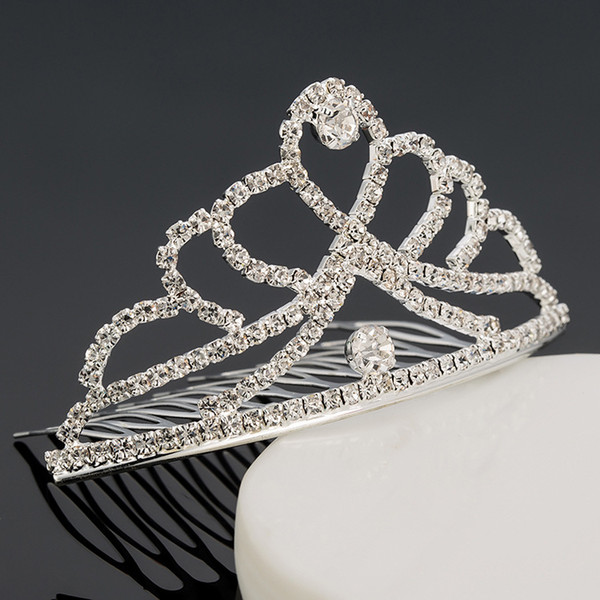 Girls Tiaras Wtih Rhinestones Crystals Hair Accessories Evening Prom Party Performance Pageant Tiaras and Crowns For Girls DB-T058