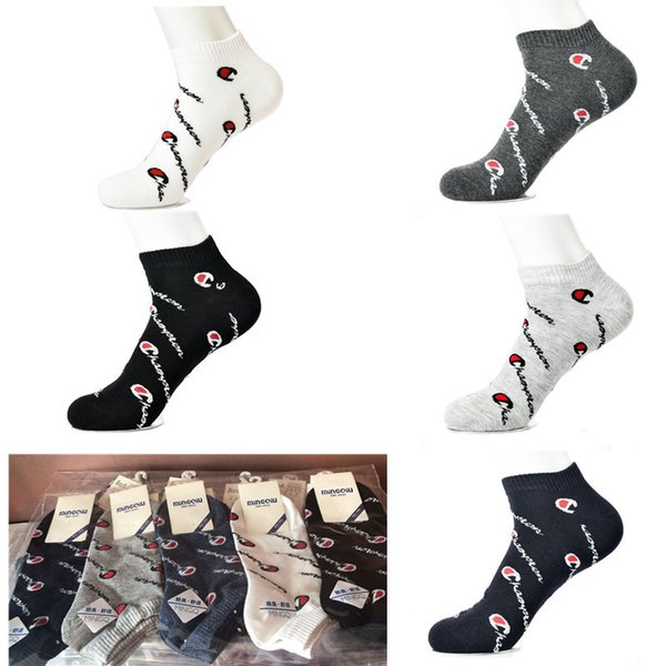 Champion Socken Hip Hop Basketball Socken Outdoor Sports Paar Medium Rohr Sommer Socken Farben Mix Komfortable Strumpf 2019 C41207