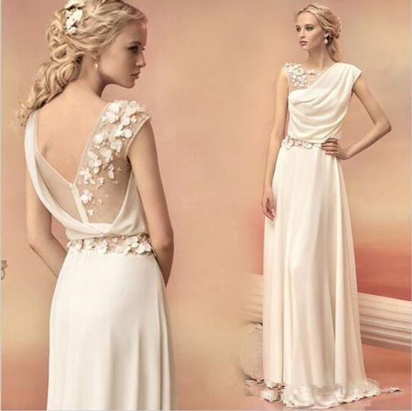 Long Evening Dresses 2019 Bride Princess Banquet Lace Chiffon Prom Dress  Greek Goddess Elegant Backless Plus Size Formal Dress Ladies Occasion  Dresses ...